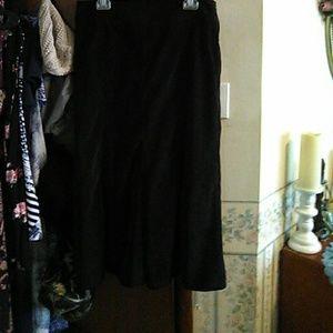 Zac & Rachel black courderoy skirt